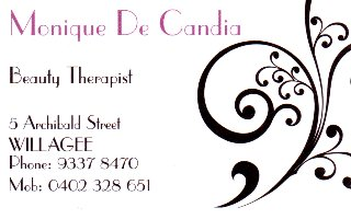 Monique De Candia Beauty Therapist
