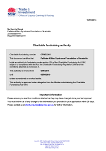 Authority to Fundraise NSW