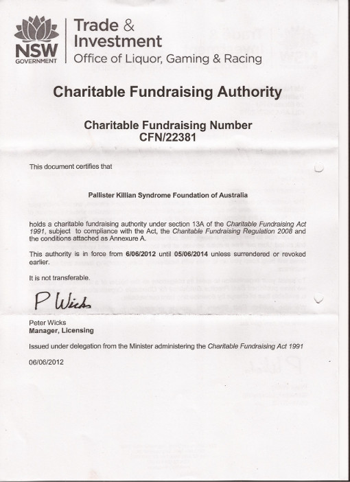 Charitable Fundraising Authority NSW